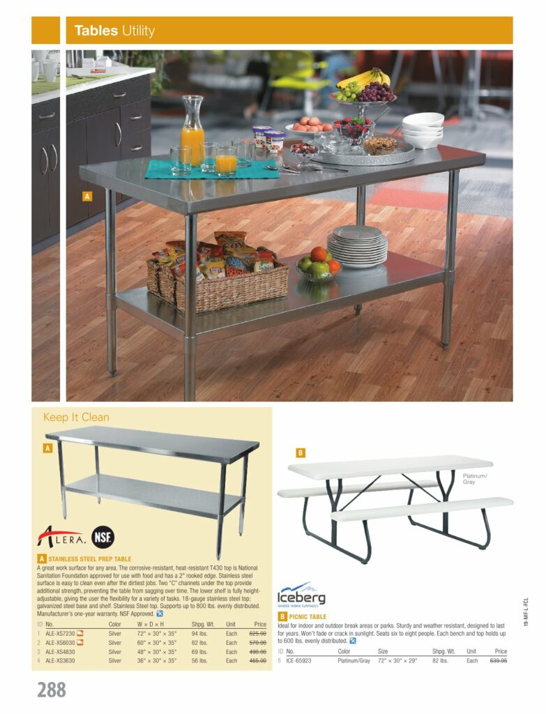 New Furniture Tables Global Facility Services Inc